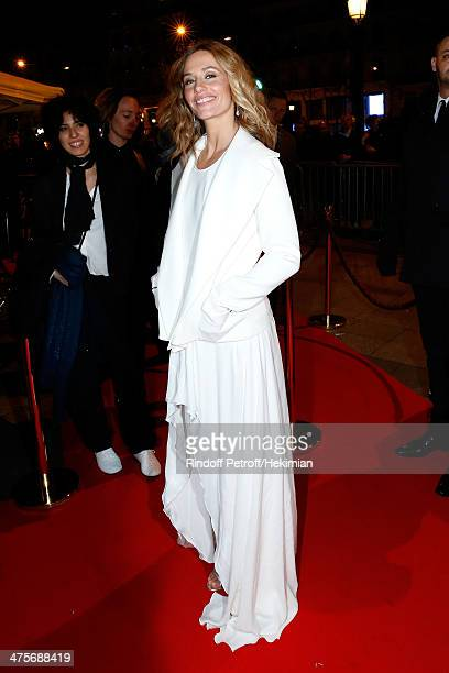 Host Cecile de France attends dinner after the 39th Cesar Film Awards 2014 at Le Fouquet's on February 28 2014 in Paris France