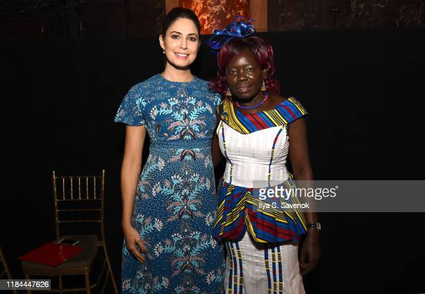 Host Cecilia Vega and Honoree Anna Nimiriano attend The International Women's Media Foundation's 2019 Courage In Journalism Awards at Cipriani 42nd...