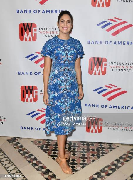 Host Cecilia Vega attends The International Women's Media Foundation's 2019 Courage in Journalism Awards at Cipriani 42nd Street on October 30 2019...