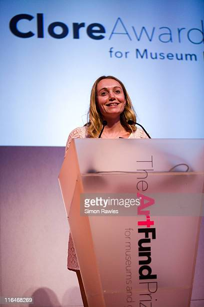 Host Cerrie Burnell speaks as Director of British Museum Neil MacGregor wins the prize in recognition of innovative and inspiring public programme...
