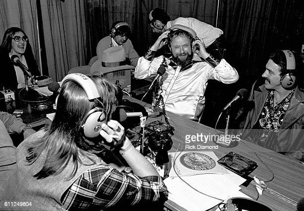 Host Charlie Daniels chats on radio row during CDB Jam VIII on January 17 1981