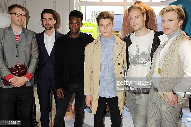 Host Charlie Porter Jack Guinness Nathan StewartJarrett Oliver Cheshire Jack Fox and Henry Conway attend the British Designers Collective Mens Launch...