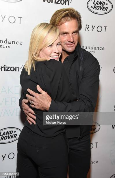 TV host Chelsea Handler and Laird Hamilton attend the Los Angeles premiere of 'Take Every Wave The Life of Laird Hamilton' sponsored by Land Rover...