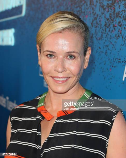 Host Chelsea Handler at Apple Music Launch Party Carpool Karaoke The Series with James Corden on August 7 2017 in West Hollywood California