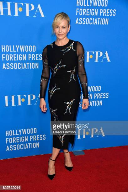 Host Chelsea Handler attends the Hollywood Foreign Press Association's Grants Banquet at the Beverly Wilshire Four Seasons Hotel on August 2 2017 in...