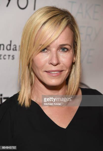 Host Chelsea Handler attends the Los Angeles premiere of 'Take Every Wave: The Life of Laird Hamilton,' sponsored by Land Rover, Verizon and RYOT on...