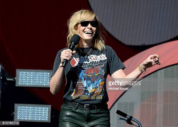 Host Chelsea Handler speaks onstage at the 2016 Global Citizen Festival in Central Park To End Extreme Poverty By 2030 at Central Park on September...