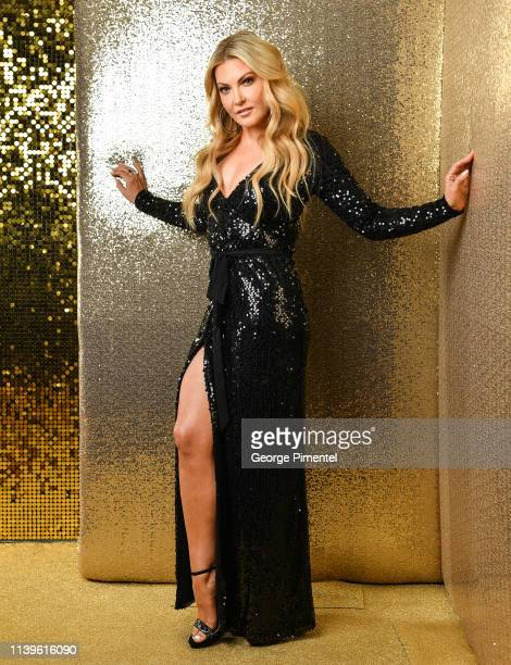 Host Cheryl Hickey poses inside the 2019 Canadian Screen Awards Portrait Studio held at Sony Centre for the Performing Arts on March 31 2019 in...