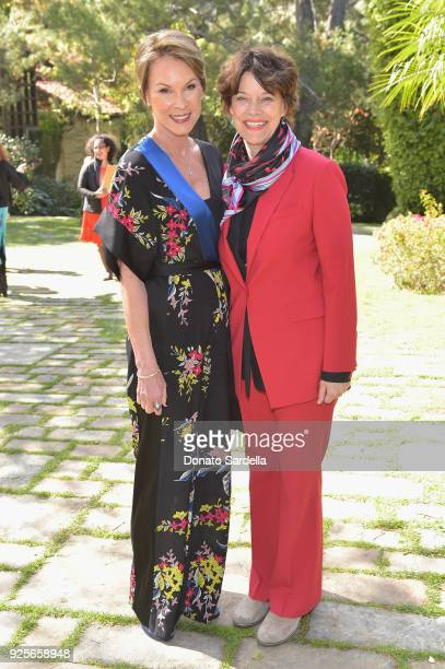 Host Cheryl Saban and Managing Director Advancement and External Relations at Academy Museum of Motion Pictures Katharine DeShaw attend the DVF Oscar...