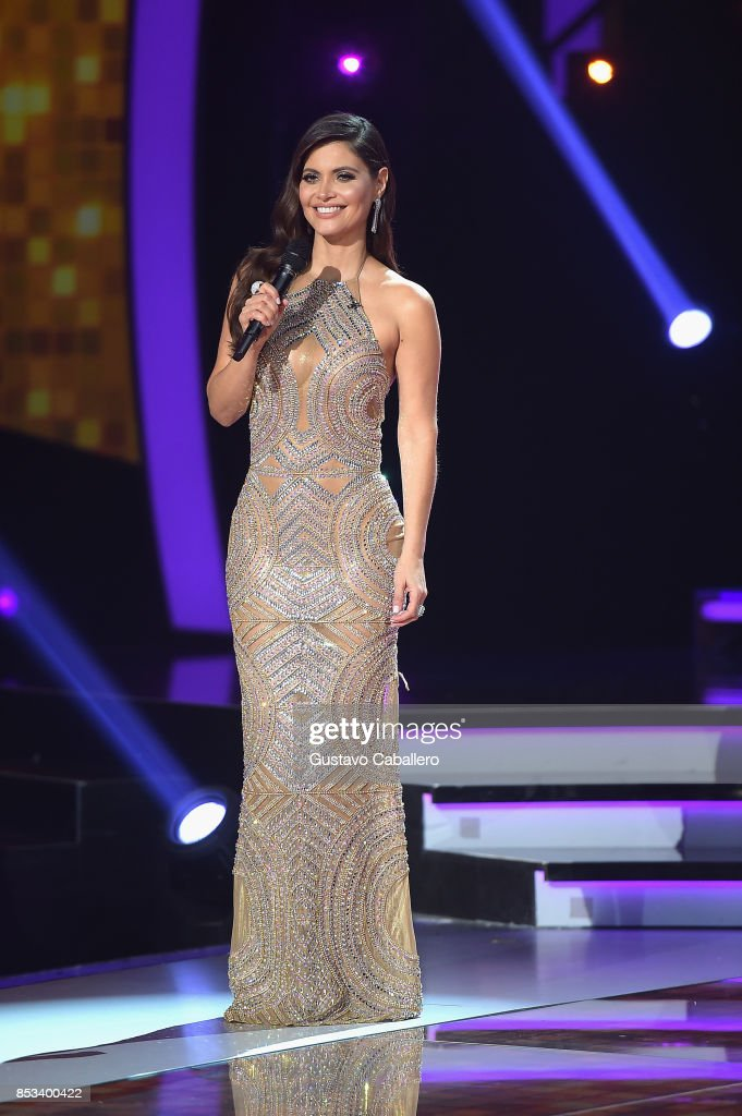 Host Chiquinquira Delgado attends the Mira Quien Baila at Univision Studios on September 24, 2017 in Miami, Florida.