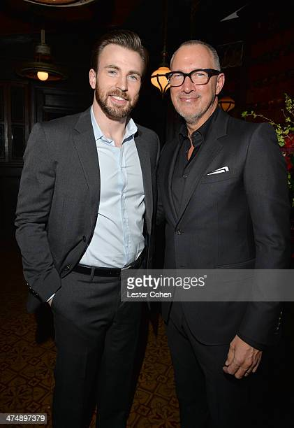 Host Chris Evans and VP and Publisher of Vanity Fair Edward Menicheschi attend Vanity Fair and FIAT celebration of 'Young Hollywood' during Vanity...
