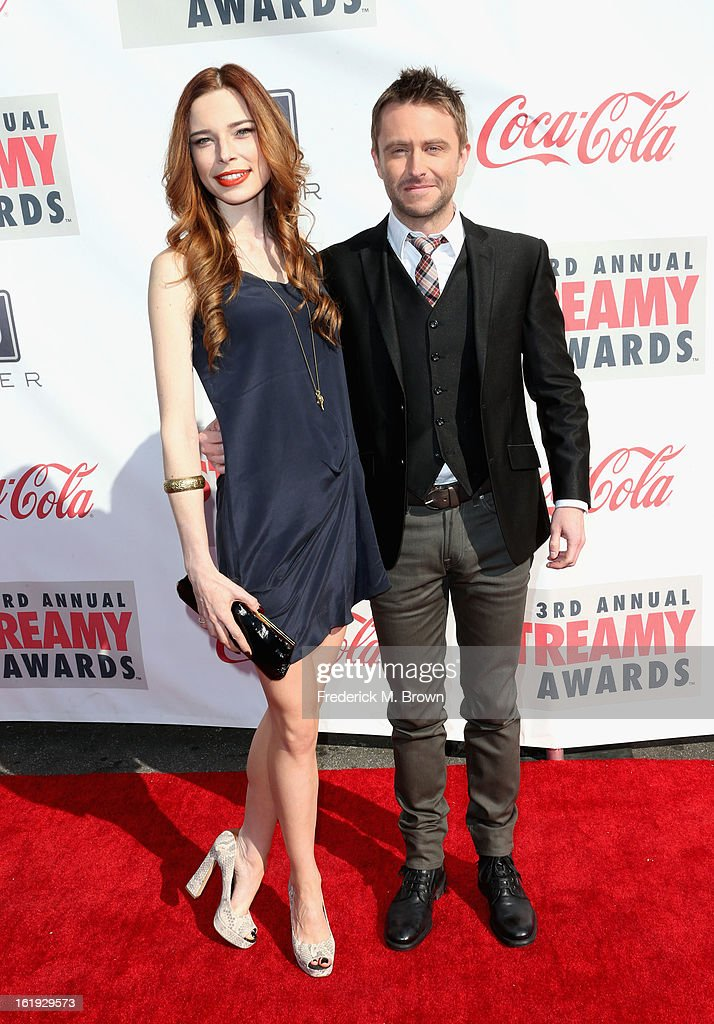 Host Chris Hardwick (R) attends the 3rd Annual Streamy Awards at Hollywood Palladium on February 17, 2013 in Hollywood, California.