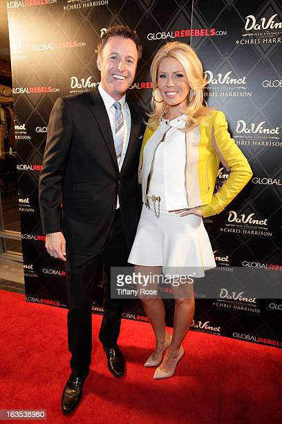 Host Chris Harrison and Gretchen Rossi attend the Grand Opening Of DaVinci Of California on March 11 2013 in Los Angeles California