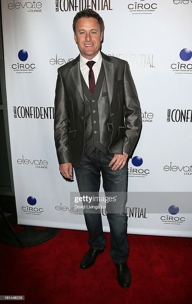 TV host Chris Harrison attends the Los Angeles Confidential Magazine and Mary J. Blige celebration of the GRAMMY Awards at Elevate Lounge on February 10, 2013 in Los Angeles, California.