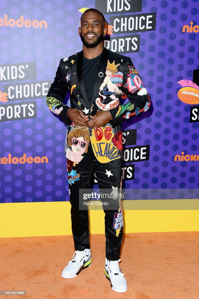 Host Chris Paul attends the Nickelodeon Kids' Choice Sports 2018 at Barker Hangar on July 19, 2018 in Santa Monica, California.