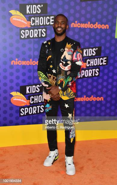 Host Chris Paul attends the Nickelodeon Kids' Choice Sports 2018 at Barker Hangar on July 19 2018 in Santa Monica California
