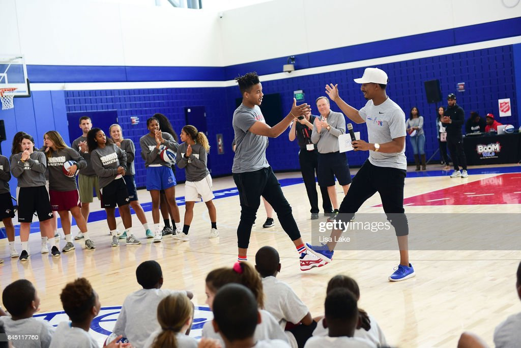 Erving Youth Basketball Clinic and Panel : News Photo
