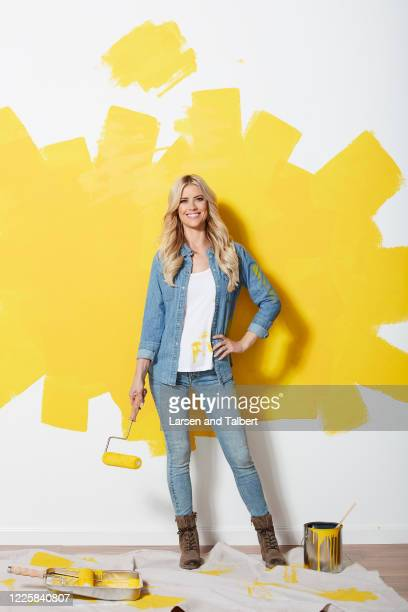 Host Christina Anstead is photographed for HGTV Magazine on January 22, 2019 in Los Angeles, California.
