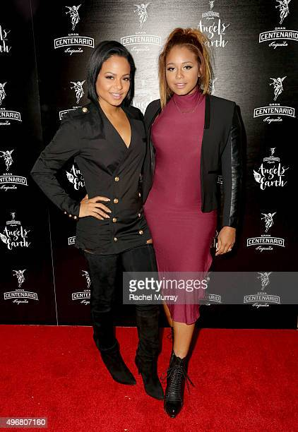 Host Christina Milian and sister Danielle Milian attend Gran Centenario Tequila presents Angels On Earth at the Sunset Tower on November 11, 2015 in...