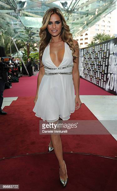 Host Clara Morgane attends the World Music Awards 2010 at the Sporting Club on May 18 2010 in Monte Carlo Monaco