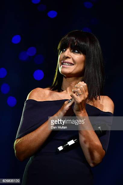Host Claudia Winkleman onstage at the Team GB Ball at Battersea Evolution on November 30 2016 in London England