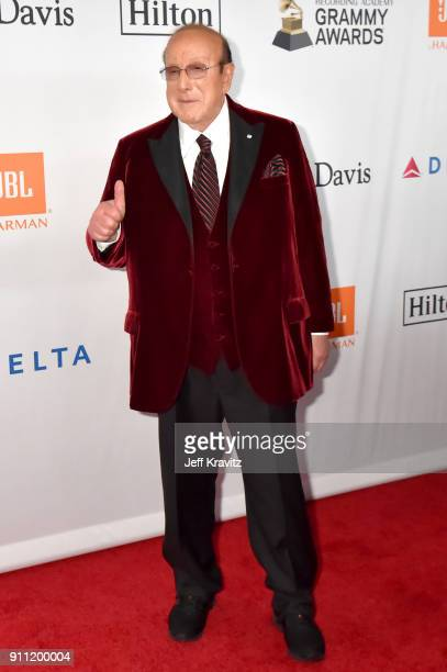 Host Clive Davis attends the Clive Davis and Recording Academy PreGRAMMY Gala and GRAMMY Salute to Industry Icons Honoring JayZ on January 27 2018 in...