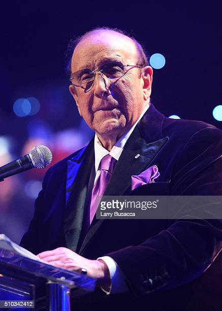 Host Clive Davis speaks onstage during the 2016 PreGRAMMY Gala and Salute to Industry Icons honoring Irving Azoff at The Beverly Hilton Hotel on...