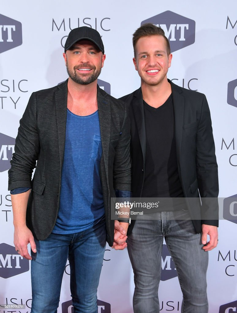 Host Cody Alan and Trea Smith attend CMT's 'Music City' Premiere at The Back Corner on February 20, 2018 in Nashville, Tennessee.