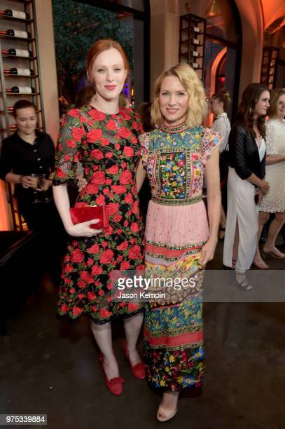 Host Committee Member Karen Elson and actress Naomi Watts attend Restoration Hardware's unveiling at The Gallery at Green Hills at RH on June 14 2018...