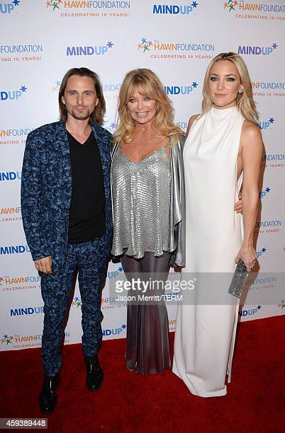 Host committee member Matthew Bellamy host Goldie Hawn and host committee member Kate Hudson attend Goldie Hawn's inaugural 'Love In For Kids'...