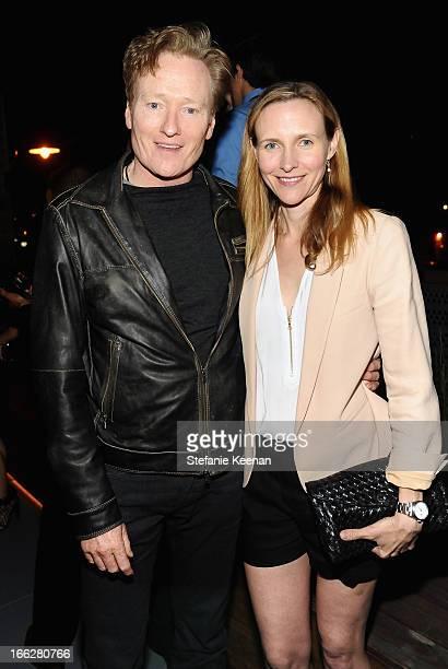 Host Conan O'Brien and Liza Powel OBrien attend Coach's 3rd Annual Evening of Cocktails and Shopping to Benefit the Children's Defense Fund hosted by...