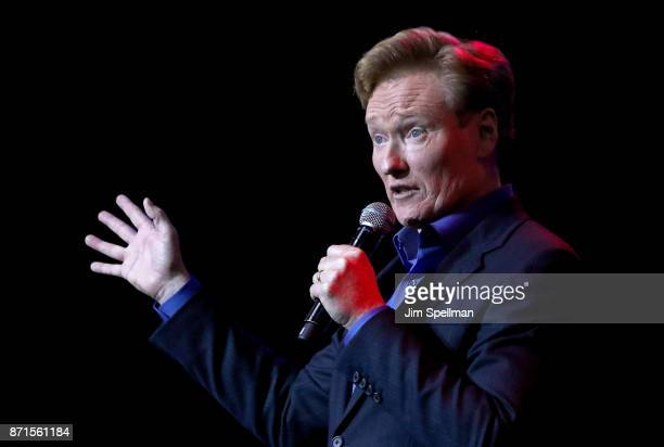 TV host Conan O'Brien attends the 11th Annual Stand Up for Heroes at The Theater at Madison Square Garden on November 7 2017 in New York City