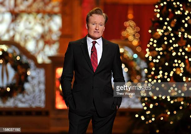 Host Conan O'Brien speaks onstage during TNT Christmas in Washington 2012 at National Building Museum on December 9, 2012 in Washington, DC....