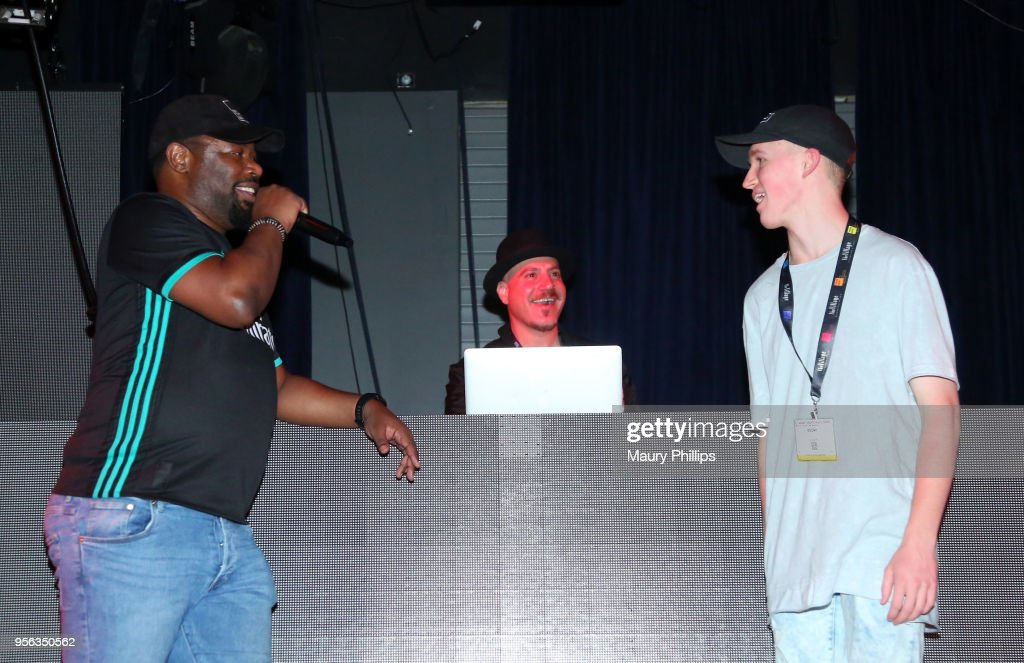 Host Courtney 'Cizzurp' Carroll and Egomi perform during the 'istandard Producer And Rapper Showcase' at The 2018 ASCAP 'I Create Music' EXPO at Loews Hollywood Hotel on May 8, 2018 in Hollywood, California.