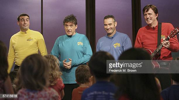 Host Craig Ferguson and the Wiggles perform during a segment of The Late Late Show With Craig Ferguson at CBS Television Studios on April 24 2006 in...