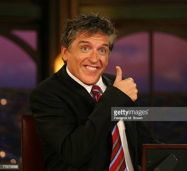 Host Craig Ferguson speaks during a segment of 'The Late Late Show with Craig Ferguson' at CBS Television City on September 27 2007 in Los Angeles...