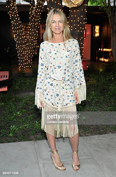 Host Crystal Lourd attends the launch of EB Florals By Eric Buterbaugh with Saks Fifth Avenue on May 25 2016 in Los Angeles California