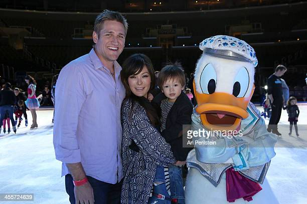 Host Curtis Stone Actress Lindsay Price and son attend Disney On Ice Presents 'Rockin' Ever After' Premiere/Skating Partyat Staples Center on...