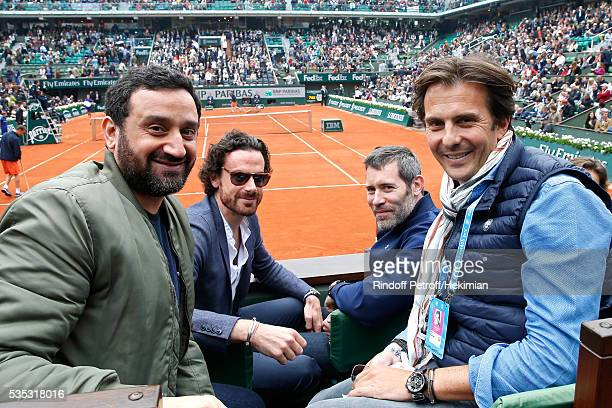 TV Host Cyril Hanouna actual Mayor of Paris Cabinet Director Mathias Vicherat actor Jalil Lespert and Businessman Yannick Bollore attend Day Height...