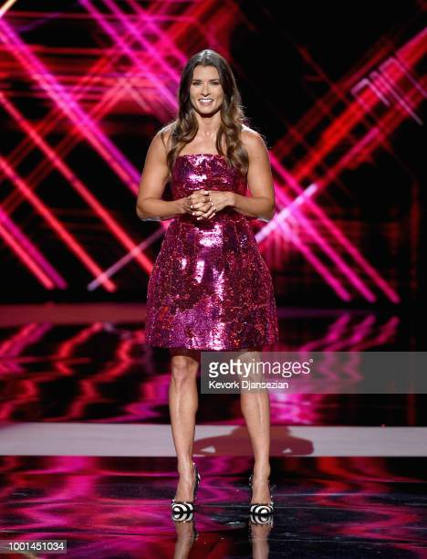 Host Danica Patrick speaks onstage at The 2018 ESPYS at Microsoft Theater on July 18 2018 in Los Angeles California