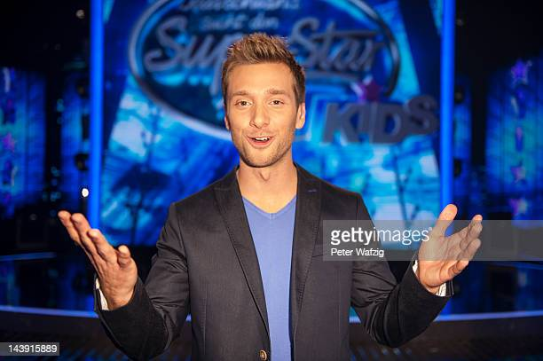 Host Daniel Assmann attends the DSDS Kids Jury Photocall at Coloneum on May 05 2012 in Cologne Germany