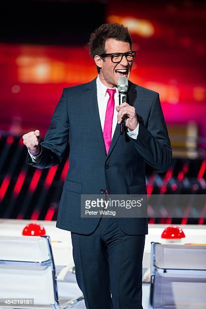 Host Daniel Hartwich during the second Semifinal of 'Das Supertalent' TV Show on December 07 2013 in Cologne Germany