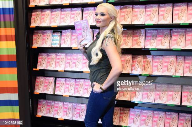 TV host Daniela Katzenberger posing during a photo call for the presentation of her new book 'Eine Tussi sagt Ja' in Cologne Germany 28 June 2016...