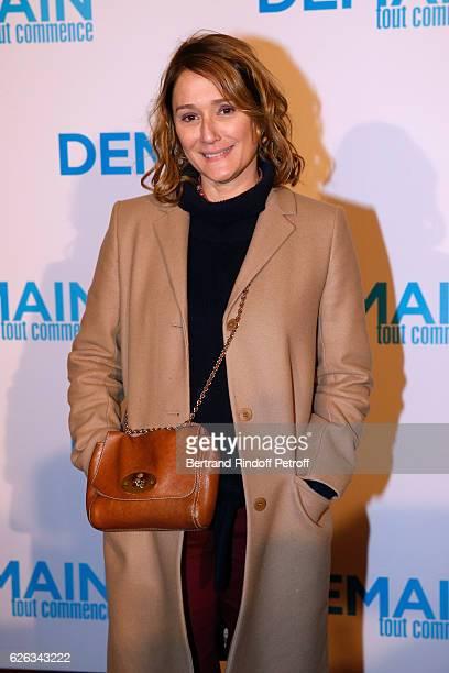 """Host Daniela Lumbroso attends the """"Demain Tout Commence"""" Paris Premiere at Cinema Le Grand Rex on November 28, 2016 in Paris, France."""