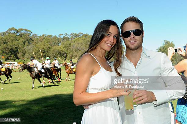 TV host Danielle Dotzenrod and actor George Stults attend the Veuve Clicquot Polo Classic Los Angeles at Will Rogers State Historic Park on October...