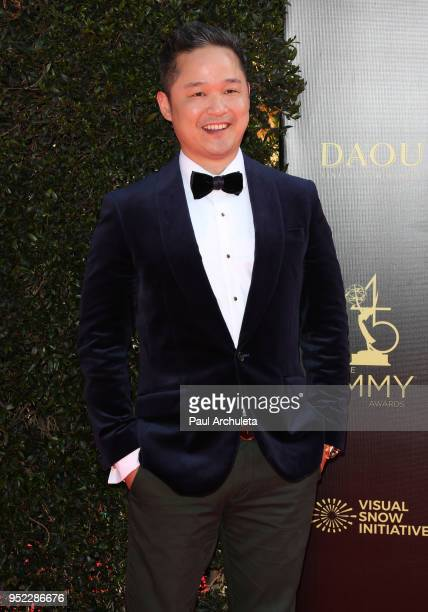 Host Danny Seo attends the 45th Annual Daytime Creative Arts Emmy Awards at the Pasadena Civic Auditorium on April 27 2018 in Pasadena California