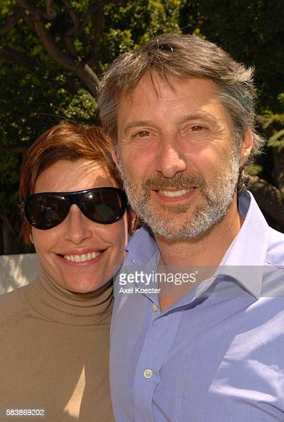 Host Daphne Roulier and director Antoine De Caunes attends a luncheon at the French Consul General's Residence during the 11th Annual City of Lights,...