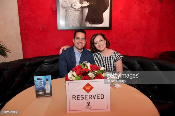 TCM host Dave Karger and TCM Filmstruck host Alicia Malone attend day 3 of the 2018 TCM Classic Film Festival on April 28 2018 in Hollywood...