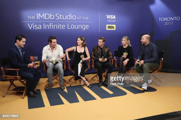 Host Dave Karger Director/actor James Franco actress Alison Brie actor Dave Franco actress Ari Graynor and actor Paul Scheer of 'The Disaster Artist'...