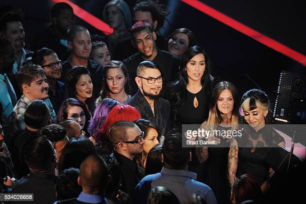Host Dave Navarro appears on stage during the 'Ink Master' season 7 LIVE finale on May 24 2016 in New York City